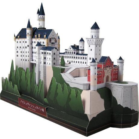 Duitsland Neuschwanstein kasteel, de bouw, papier ambachtelijke, Europa, Duitsland, Neuschwanstein, het kasteel, de bouw