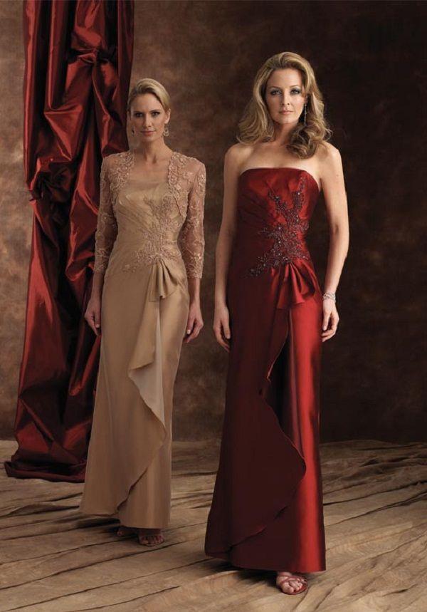 gold mother of the bride dresses   vestidos de festa para senhoras 20 Vestidos de Festa para Senhoras (30 ...