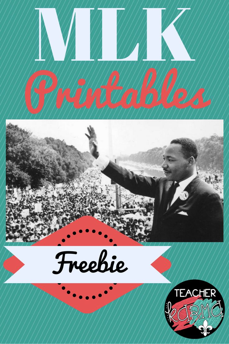 Martin Luther King, Jr. FREE Resources