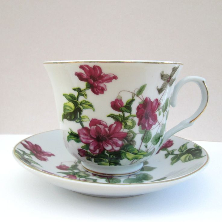 Upcycled tea cup planter ~ china recycled repurposed tea cup saucer ~ ceramic plant pot, handmade gifts for Mothers Day, sister's birthday by BlueBoxStudio on Etsy