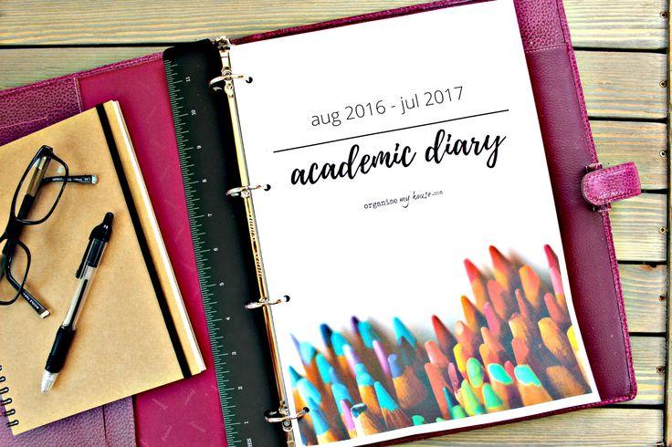 2016 2017 academic diary planner printables