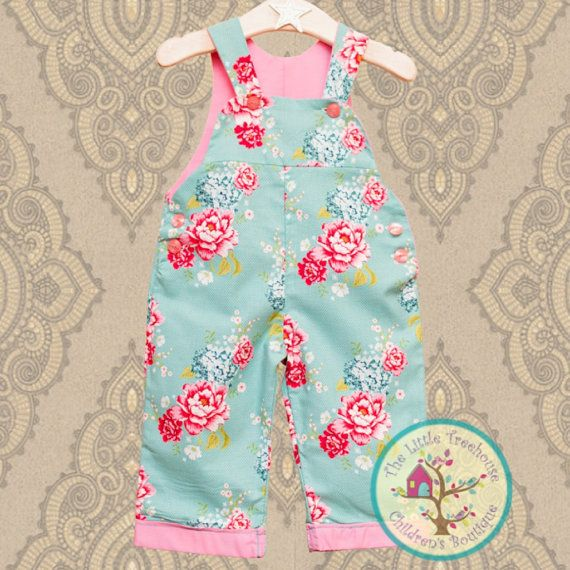 Girls Dungarees, Unique Gift for Baby Girl, Girls Overalls , Unique Baby Girls outfit for Summer, Girls 1st Birthday party Outfit