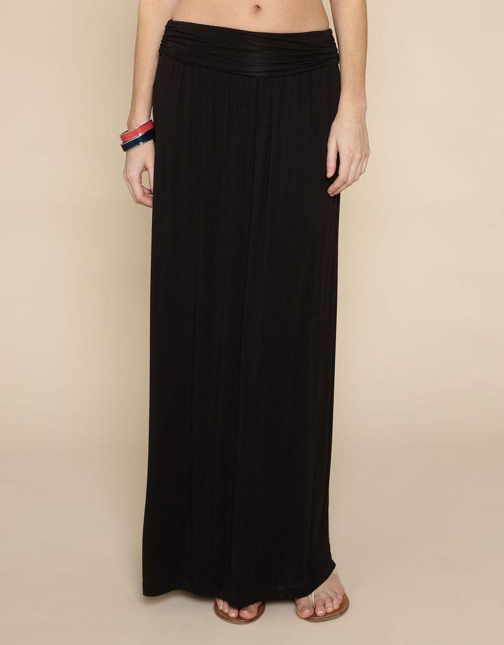 black jersey maxi skirt - Google Search