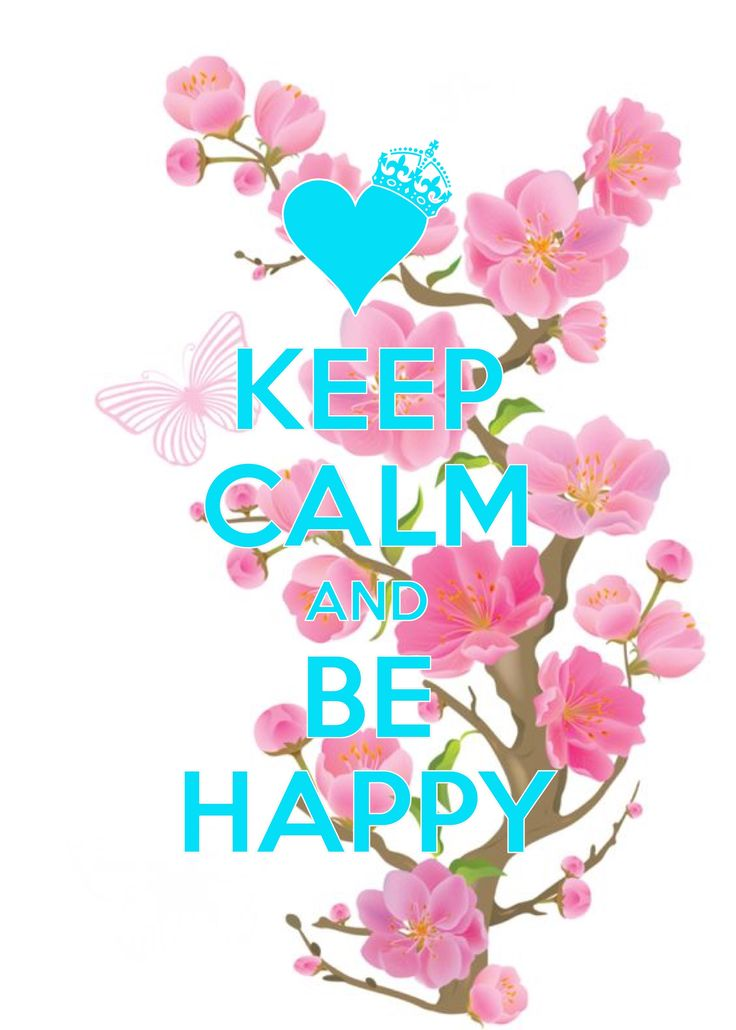 keep calm and be happy / created with Keep Calm and Carry On for iOS #keepcalm #happy