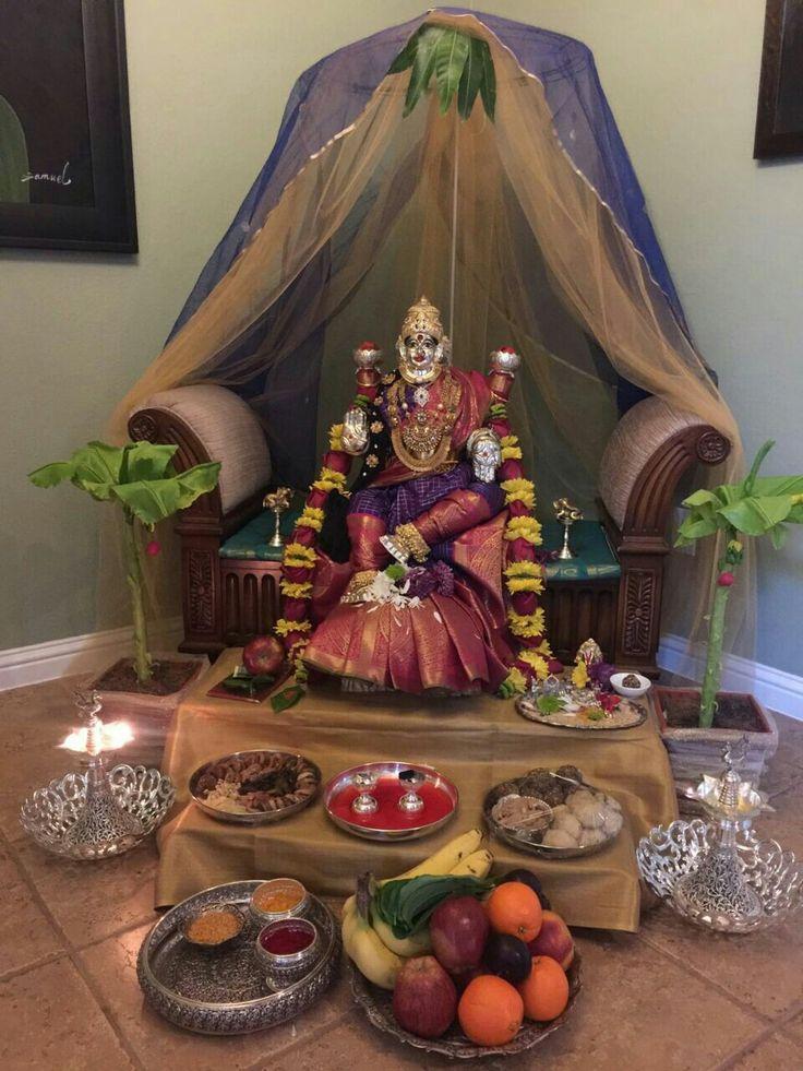 11 Best Pooja Unit Images On Pinterest: 19 Best Varalakshmi Pooja Decoration Images On Pinterest