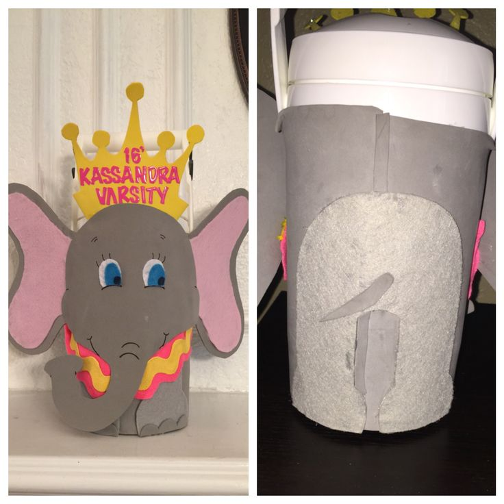 Decorated water jug inspired by Dumbo the elephant!!