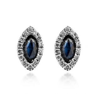 Cercei cu safire si diamante C462