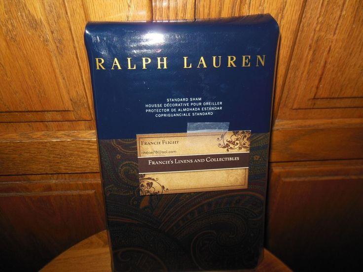 RALPH LAUREN - GREAT COMPTON PAISLEY STAMDARD SHAM #RalphLauren