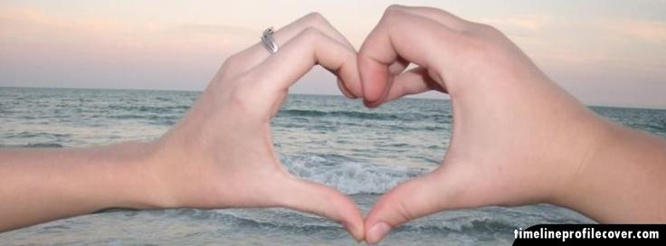 Hand heart Facebook Cover Photo