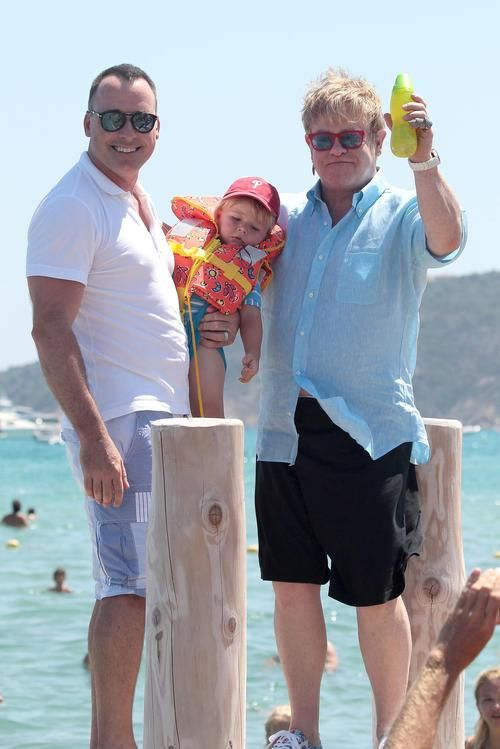 Elton John & David Furnish Introduce Son Elijah