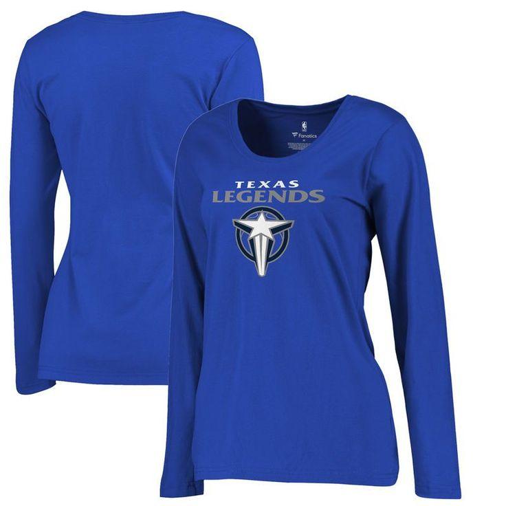 Texas Legends Fanatics Branded Women's Primary Logo Plus Size Long Sleeve T-Shirt - Royal