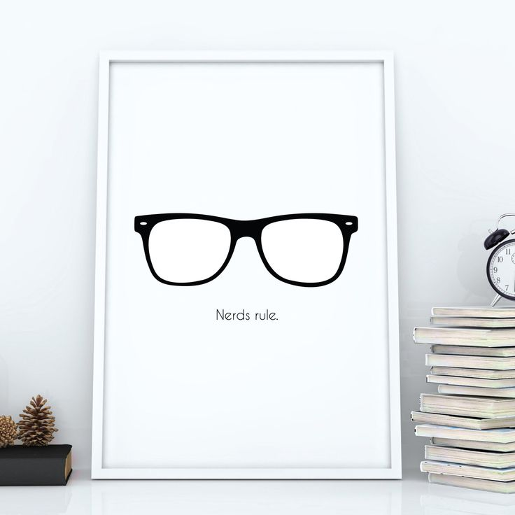 Nerds Rule | Modern | Typography | Poster | Print | Funny | Printable Wall Art | Geek Wall Art | Geeky Gift | Man Cave Art | Dorm Decor by WallArtCreationsShop on Etsy https://www.etsy.com/listing/515550017/nerds-rule-modern-typography-poster