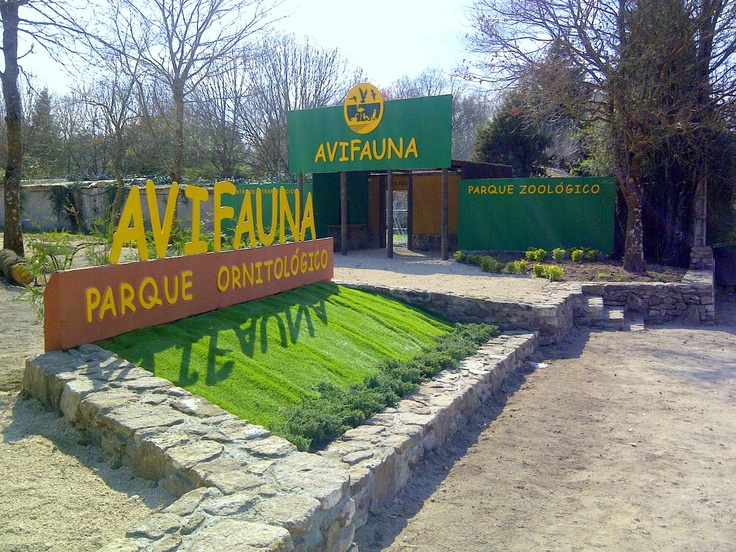 Entrada al parque zoológico ornitológico de Avifauna Lugo