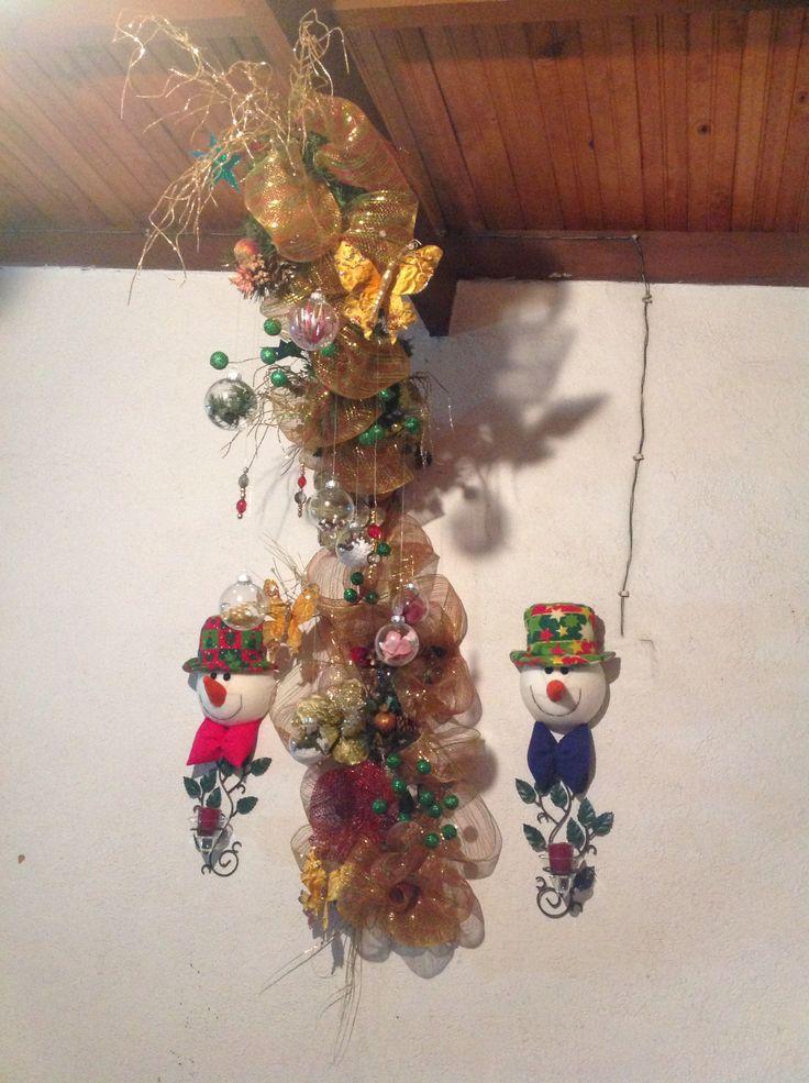 Decoración columna Navidad