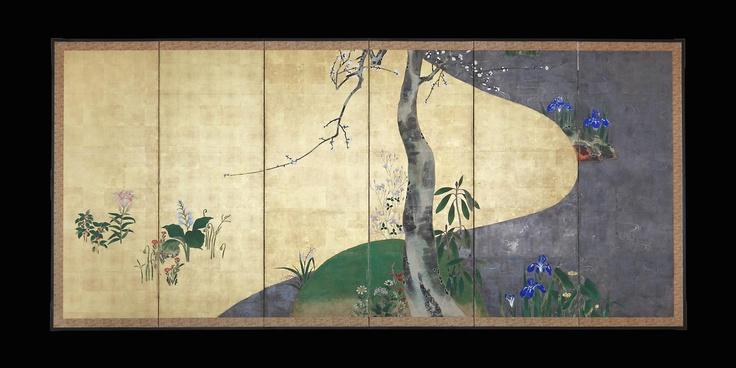 Japanese Screen - Solitary Plum Tree