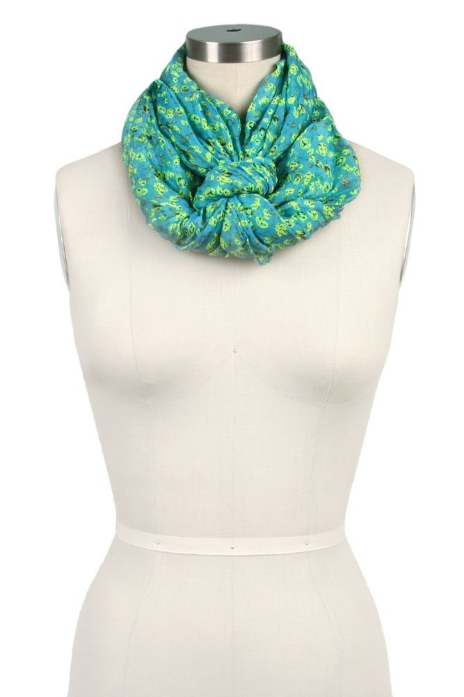 Maria Floral Infinity Scarf | Scarves.net | Scarves.net