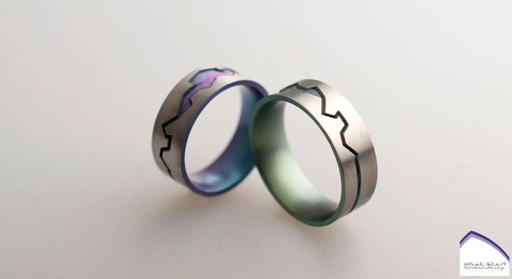 Gekleurde titanium trouwringen, weer eens wat anders!