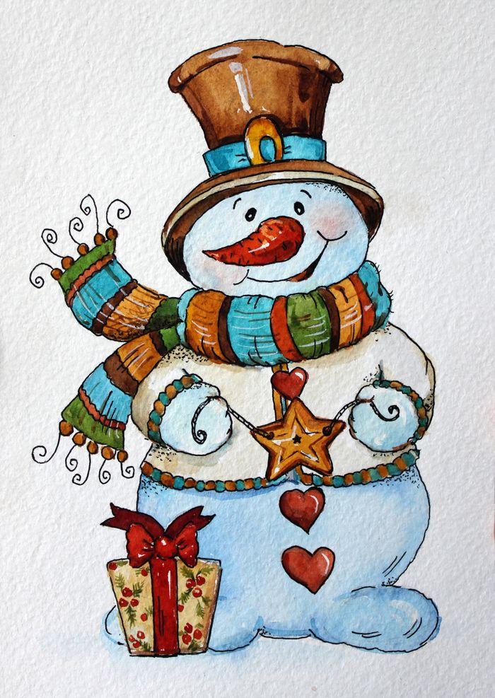 Новогодние открытки зарисовки, для контакта
