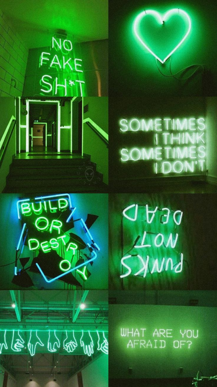 Green Aesthetic | Collages in 2019 | Aesthetic wallpapers ...