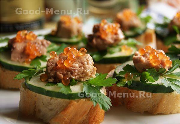 Бутерброды с печенью трески - рецепт