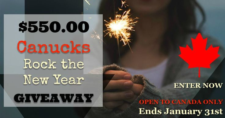 Wouldn't the new year be extra special with $550CDN Paypal cash? Be sure to stop by the blog and enter a fabulous giveaway put on by some awesome bloggers!