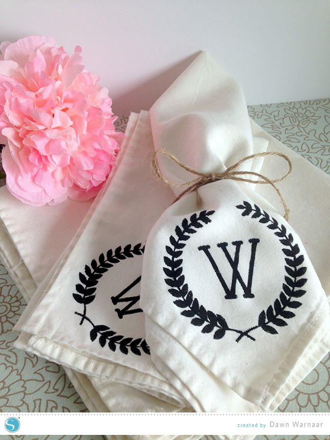 Silhouette America Blog | Tutorial | DIY Monogram Napkins
