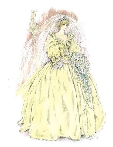 Princess Diana Bridal Drawings