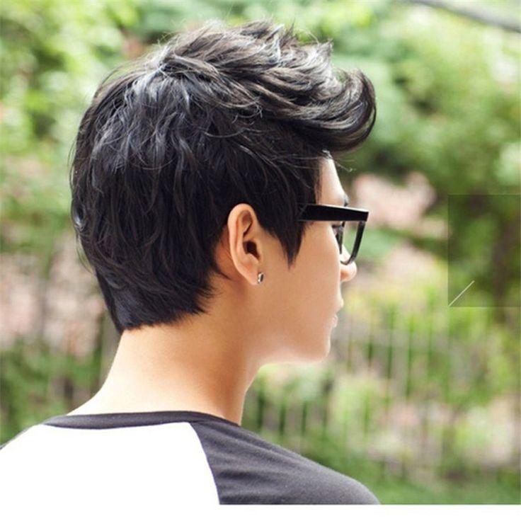 Aliexpress.com: Comprar Guapos Sunshine hombres coreanos de pelucas pelucas de pelo corto para hombre cosplay peluca sintética peluca delantera del cordón rizado muchacho capas naturales del pelo de longitud de la peluca fiable proveedores en synthetic wigs