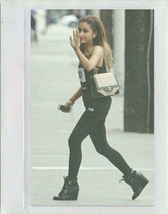Ariana Grande arriving @ recording studio