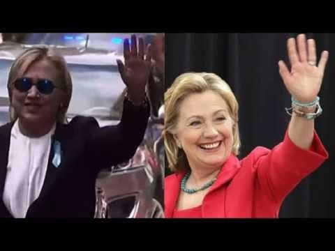 Not for re-pinning. Check later--is there a closeup of the 'Hillary' on the left? (The red-dressed Hillary is the real one, but the photo was taken in the past--not on 9/11/16.) Hillary Clinton Health Issues Are A Hoax And Her Body Double Debacle - Obama 3rd Term President - YouTube