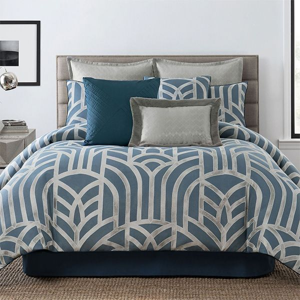 Mayfair Art Deco Style Comforter Bedding From Laundry By Shelli Segal Comforter Sets King Comforter Sets Pattern Comforters