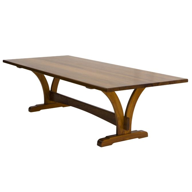The elegant Yarrah table offers a stylish solution to a variety of modern dining settings! Handcrafted in Australia to any size from a wide range of select-grade hardwoods (pictured here in English Elm, Mackay Cedar, Tasmanian Blackwood and Western Australian Jarrah), it features a regular or slab top, curved refectory-style bases joined by a longitudinal … Read more