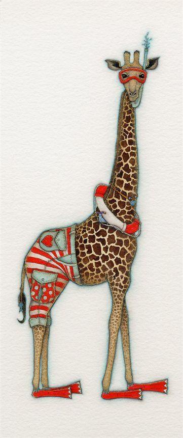 Beach Boy Giraffe by Tracy Paul