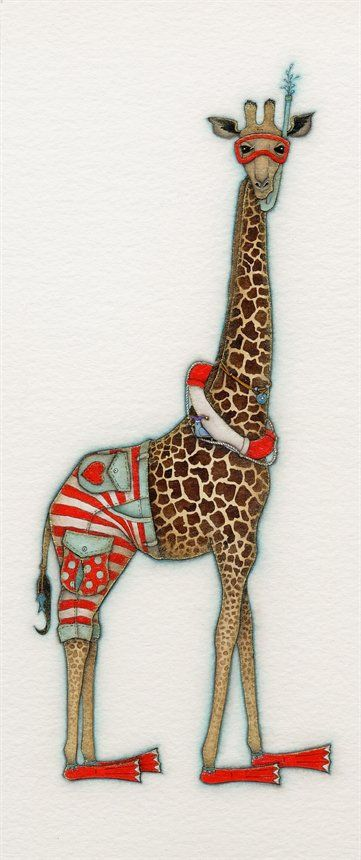 Beach Boy Giraffe by Tracy Paul