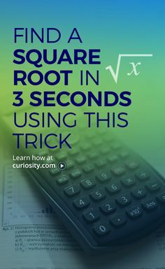 The square root math trick is a great tool for anyone having to do numerous square root problems in school or work. Learn it on Curiosity.com and practice yourself: https://curiosity.com/paths/square-root-in-3-seconds-math-trick-tecmath/?utm_source=pinterest&utm_medium=social&utm_content=link&utm_campaign=2016q2xxpst03PTAYsquareroottrick