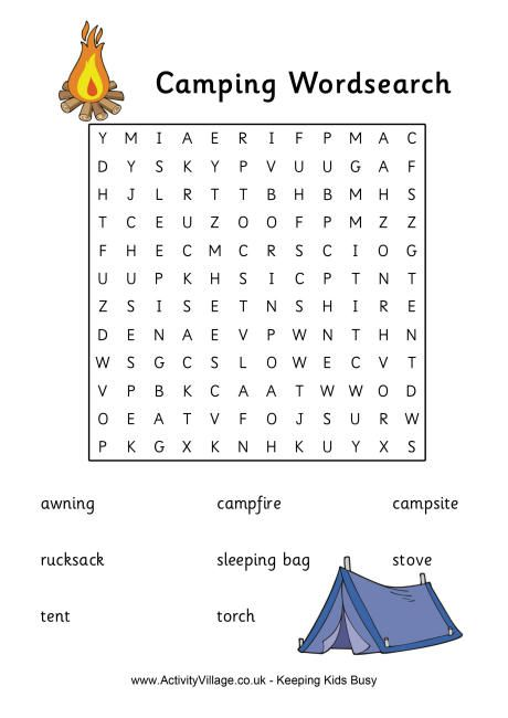 ... word search, vacation word search, water sports word search, and this