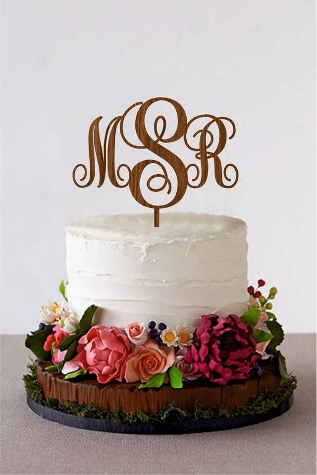 Excited to share the latest addition to my #etsy shop: Initial Cake Topper Monogram Cake Topper Couple Name Cake Topper Rustic Wood Cake Topper Gold cake topper Silver cake topper
