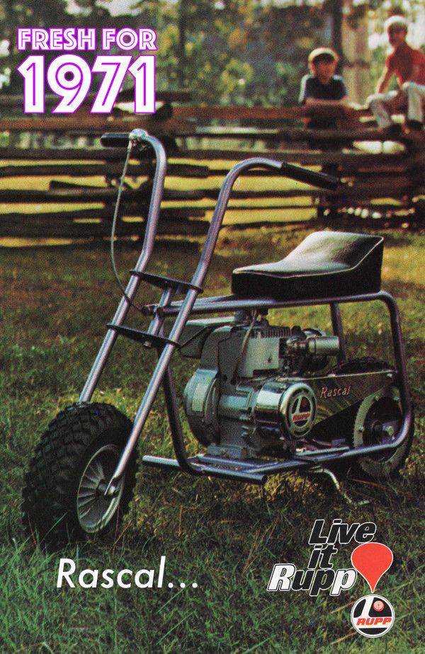 Details About Vintage Mini Bike Print 1971 Rupp Rascal