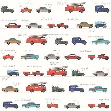 Be You kinderbehang dessin met auto's   Praxis