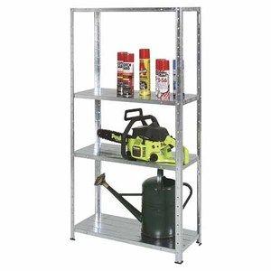 Galvanised Shelving Unit 4 Shelves