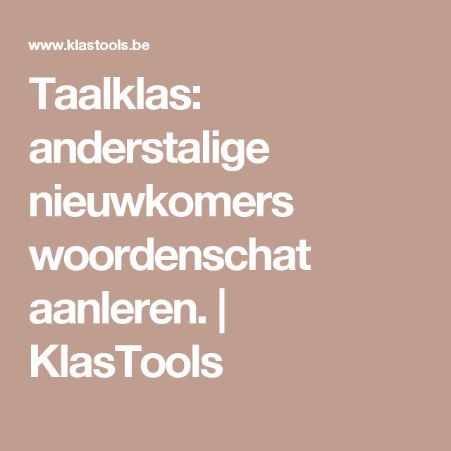 Taalklas: anderstalige nieuwkomers woordenschat aanleren.   KlasTools