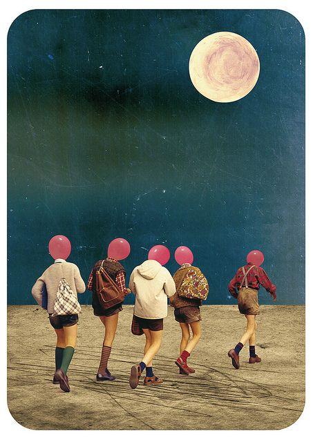 Cabeca na lua ou no balão?