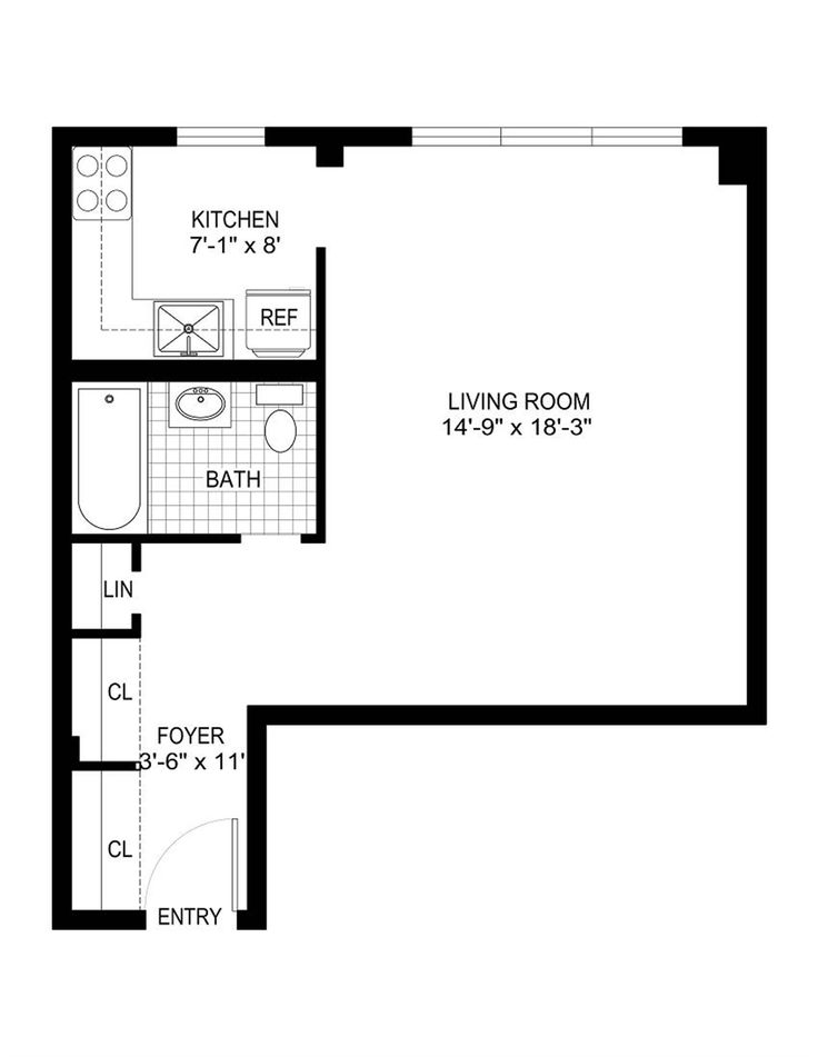 Basement Studio Apartment Floor Plans