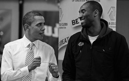 Obama and Kobe!! http://awesomepeoplehangingouttogether.tumblr.com
