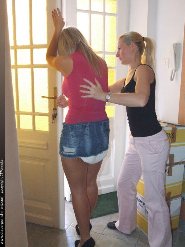 Adult girl diaper change video