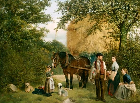 The End of the Day, William Edward Millner. English (1849 - 1895)
