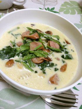ダイエット★糖質制限★満腹簡単豆乳スープ