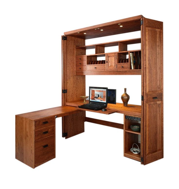 Computer Workstation in Cherry with Mahogany Wash