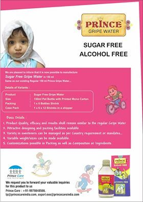 #SugarFree #Gripe #Water #PrinceCare #Pharma #Alcoholfree