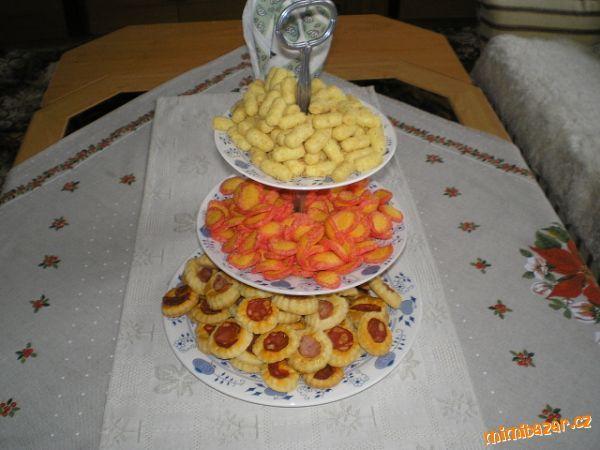 Slané koláčky s klobáskou